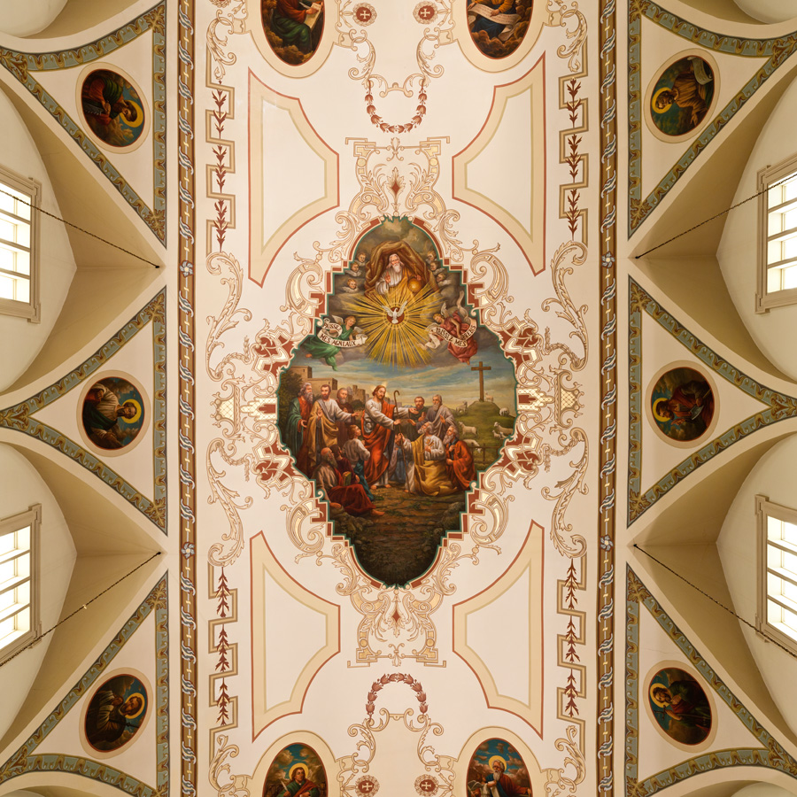 st louis cathedral ceiling panorama new orleans arlen nydam s