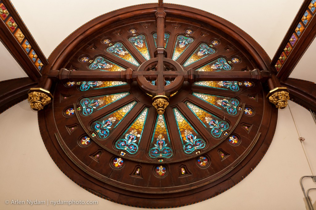 Rose window at St. Mary's Cathedral