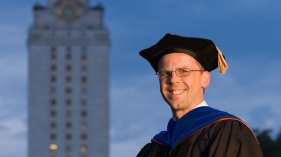 Arlen in doctoral regalia