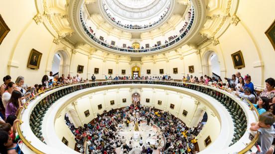 Corpus Christi rotunda panorama